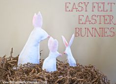 Easy No Sew Felt Easter Bunnies
