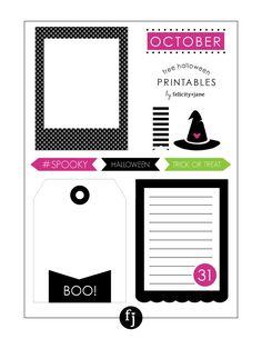 Free printable Halloween Journaling Cards FelicityJane.com