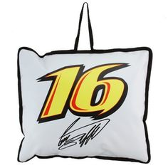 """NASCAR Greg Biffle White Seat Cushion by Football Fanatics. $14.95. Make sure your keister keeps comfy while you're cheering on Greg Biffle in the stands with this vinyl seat cushion! Composed of a water-resistant vinyl exterior, this cushion features a soft, durable polyester fill for comfort during extended periods of sitting, a driver number printed on both sides and a sewn-on handle for easy transport.100% PVC cover; 100% Polyester piping & fillApproximately 11"""" x 13""""Scr..."""
