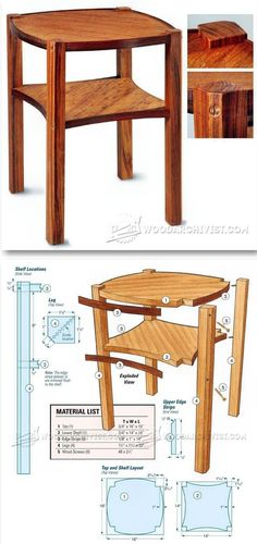 Occasional Table Plans - Furniture Plans and Projects | http://WoodArchivist.com