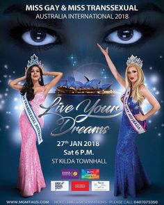 I'll be making an appearance at the Miss Gay and Miss Transsexual International Australia 2018 pageant on the 27th of January 2018. Held at the St Kilda Town Hall. Doors open at 6pm and the show goes for 4 hours.  Get your tickets now because they are about to be Sold Out as per every year. Tickets at www.midsumma.org.au  #missgaymisstranssexual #missgay #misstranssexual #stkildatownhall #transgender #TransIsBeautiful #girlslikeus #beautypageant #stkilda #melbourne #australia #midsumm #lgbt…