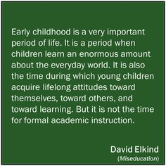 ***David Elkind*** Miseducation: Preschoolers at Risk ///The Power of Play: Learning What Comes Naturally///The Hurried Child