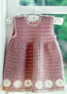 Knitted dress for girls not in eng. has a graph*****