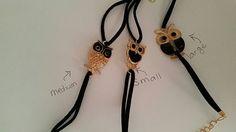 Black leather owl friendship bracelet fashion by JackisLittleShop