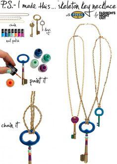 D.I.Y. Skeleton Key Necklace