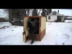 Worlds Fastest Folding Ice Fishing Shanty - YouTube