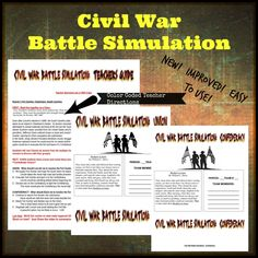 Civil War Battle Simulation - Amped Up Learning Civil War Activities, Battle Of Antietam, Political Strategy, Gettysburg Address, Fort Sumter, Academic Vocabulary, New Students, Your Teacher