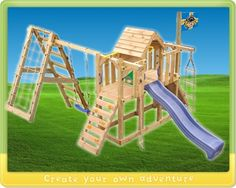 Kids climbing frame Wickey Summerland with swing £901