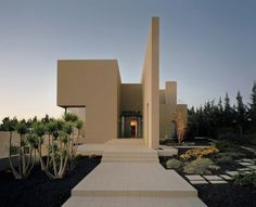 front of Modern House with Cool Interior Beautiful Garden