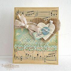 burlap and sheet music!