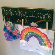 Mini Brag Board - Look What I Made - Children's Art Display by RusticCharmDesign