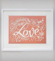 Love Papercut Art