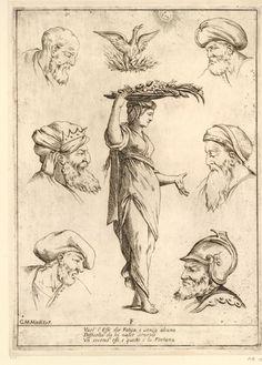 F. Alfabeto in Sogno (Alphabet in a Dream) [no JUW], Giuseppe Maria Mitelli, 1683