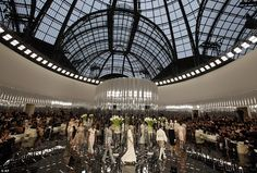 Under the dome: Creative director Karl pulled out all the stops once again by transforming...