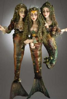 Collection of Mermaid Marionettes