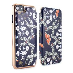 a7320ee02fff Ted Baker MARIMAN Mirror Folio Case for iPhone 8   7– Kyoto Gardens Blue