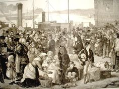 """The Irish immigration to America in the 1840s was a human tragedy of epic proportions. The blight that destroyed the potato crop brought famine to the Irish people, and the callous and brutal British government did very little to alleviate the suffering. Hundreds of thousands immigrated to the United States, and it is estimated that in the period of the """"Potato Famine"""" Ireland may have lost one-quarter of its entire population to death from hunger and disease, and those choosing to…"""