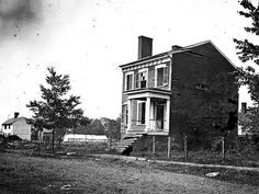 A home in Fredericksburg, VA showing destruction houses suffered by the bombardment on Dec. 13, 1862
