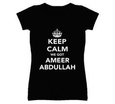81ad2ee0f8221 Keep Calm Ameer Abdullah Nebraska Football Fan Ladies Funny T Shirt