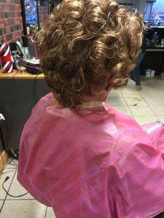 When i was 18 I laughed at my mother for her haircut, my punishment was to go to the salon and get a perm to looke just like her Roller Set Hairstyles, Curled Hairstyles, Pretty Hairstyles, Feminized Husband, Girly Captions, Blonde Updo, Getting A Perm, Evening Hairstyles, Capes