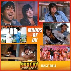 We have captured different moods of the man of few words, Jai from #Sholay.