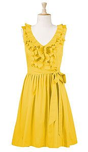 What do you think about yellow on redheads? Not sure I can pull this off, but what a pretty dress.