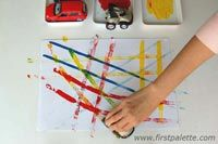 Car Track Painting for your unit on transportation