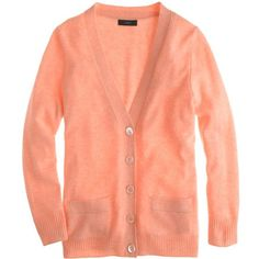J.Crew Collection cashmere V-neck cardigan found on Polyvore
