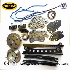Auto Parts For Ford f150 / Lincoln 5.4L 3V V8 timing chain kit TK6068 with Timing Cover Gasket Set TCS46078