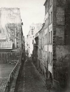 Charles Marville, La Bièvre River, a tributary of the Seine, where tanneries dumped waste.