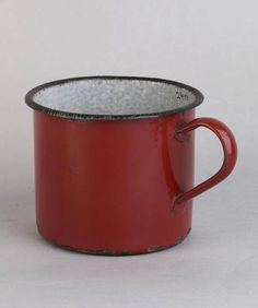 Coffee mug that was made in Schindler's enamelware factory