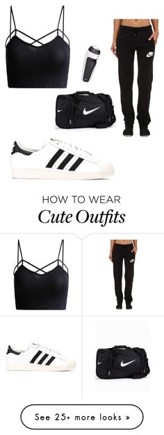 """""""cute workout outfit"""" by victoriaxmariee on Polyvore featuring adidas and NIKE"""