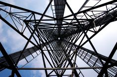 Perspective is everything.  The inside of a lattice #celltower can be somewhat of an optical illusion compared to its appearance on the outside.