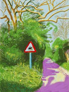 David Hockney - The Arrival of Spring: iPad Drawings