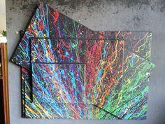 ORIGINAL Wandgebilde XL abstrakt Leinwand Malerei Design Modern Gemälde Bild XXL