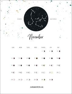 Moon Phases For November 2018 Moon Phase Calendar, July Calendar, Planning Calendar, Holiday Calendar, Free Printable Calendar Templates, Calendar 2019 Printable, Moon Phases 2018, November Wallpaper, Leo And Cancer