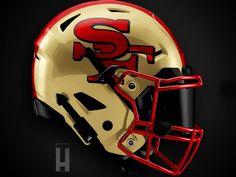 New Nfl Helmets, Cool Football Helmets, Nfl Football, American Football, Football Images, Nfl 49ers, Football Stuff, Football Players, Sports