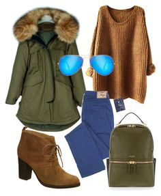 """""""Parka set"""" by polymaven-886 ❤ liked on Polyvore featuring Nicole, Henri Bendel and Ray-Ban"""