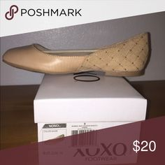 Ballet Flats Beige patent front/studded suede back. Super cute! XOXO Shoes Flats & Loafers