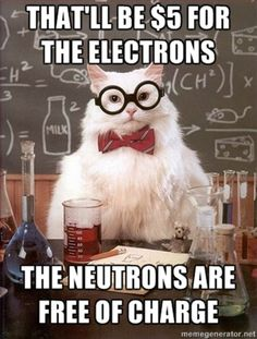 Chemistry cat be droppin science.