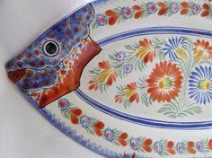 Vintage Henriot Quimper Handpainted Large Fish Platter by pentyofamelie on Gourmly