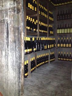 Antica botte di affinamento in grotta di pietra arenaria della Majella