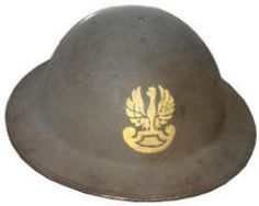 Polish brigade North Africa WWII helmet, pin by Paolo Marzioli