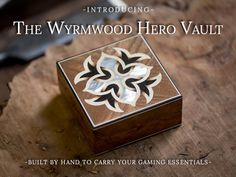 Your personal carrier for your miniature or dice available in 75 different woods with optional engravings.