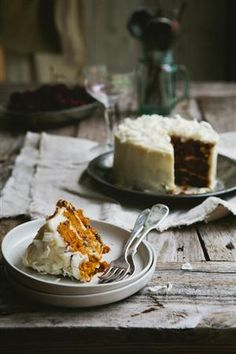 Carrot cake, rather beautifully rendered.