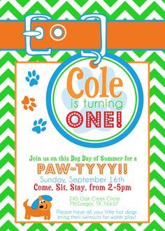 Puppy Party invitation