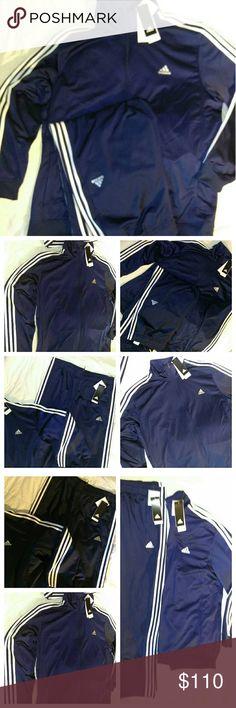 🆕Men's ORIGINAL ADIDAS TRACK SUIT⭐XLpantXXLjacket BNWT MEN'S ADIDAS WARM UP TRACK SUIT NAVY BLUE WITH 3 STRIPES Pockets on Jacket & Pants Adidas Jacket=sizeXXL Adidas Pants=sizeXL SAVE OVER 35% OFF ORIGINAL PRICE! adidas Pants Sweatpants & Joggers