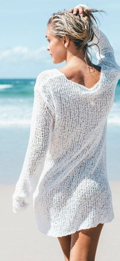 White Knit Dress Summer Style by Sabo Skirt