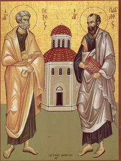 Sts Peter and Paul Orthodox Icon - Verizon Yahoo Search Yahoo Image Search Results Gate Of Hades, Greek Icons, St Peter And Paul, Little Prayer, Christian Girls, Byzantine Icons, Text Pictures, Orthodox Icons, Patron Saints