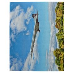 """Jigsaws featuring Concorde, the era of supersonic air travel Made of sturdy cardboard and mounted on chipboard, these puzzles are printed in vivid and full color, available in 2 sizes:  8"""" x 10"""" (110 pieces) or 10"""" x 14"""" (252 pieces)"""